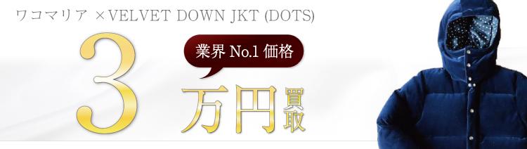 VELVET DOWN JKT (DOTS)/ベルベットダウンジャケット 3万円買取