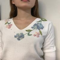 ミモザの刺繍作品