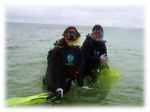限定水域ダイビング