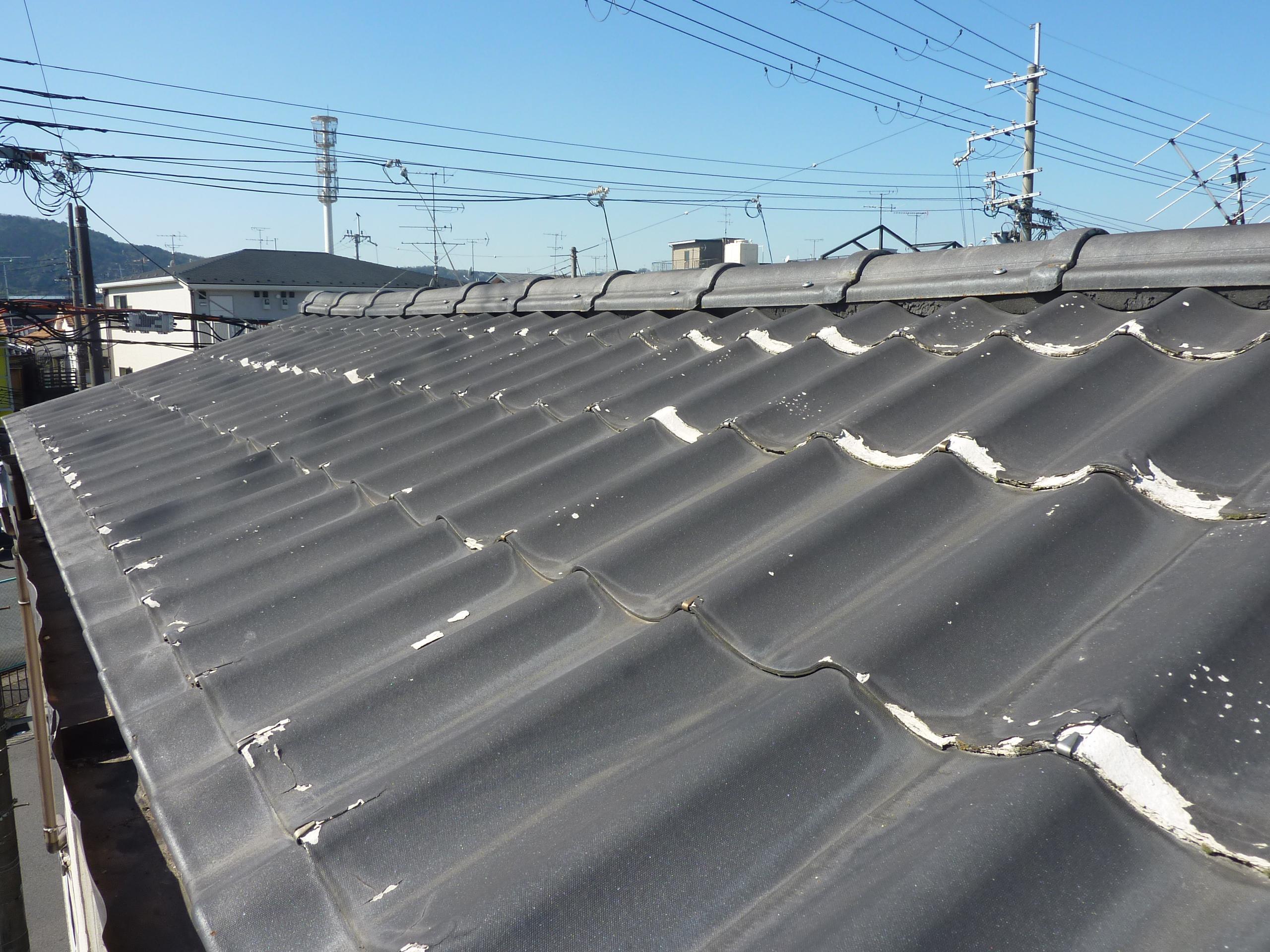 京都 城陽 宇治-タカミ工務店 屋根塗装