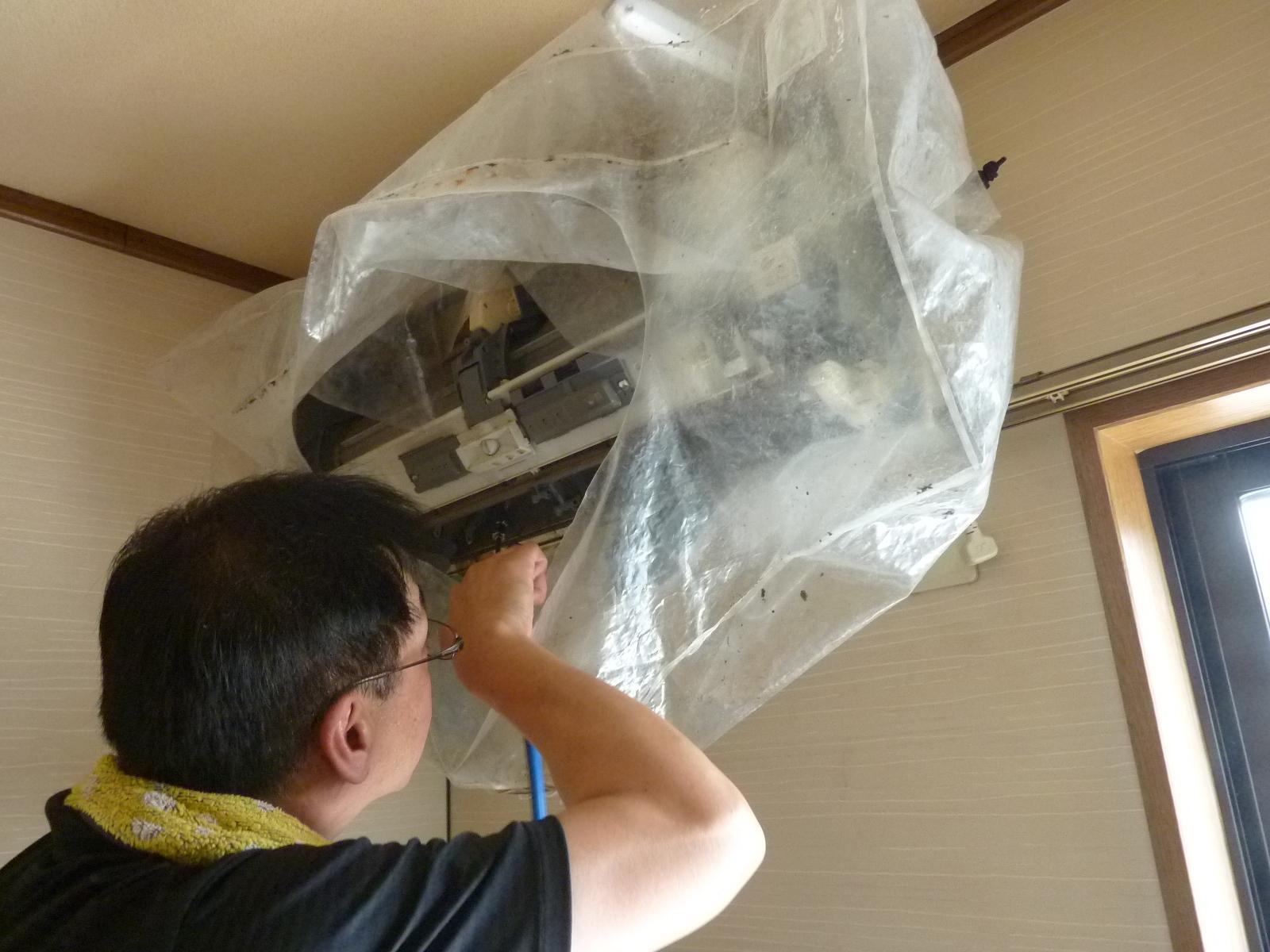 京都 城陽 宇治-タカミ工務店 エアコンクリーニング
