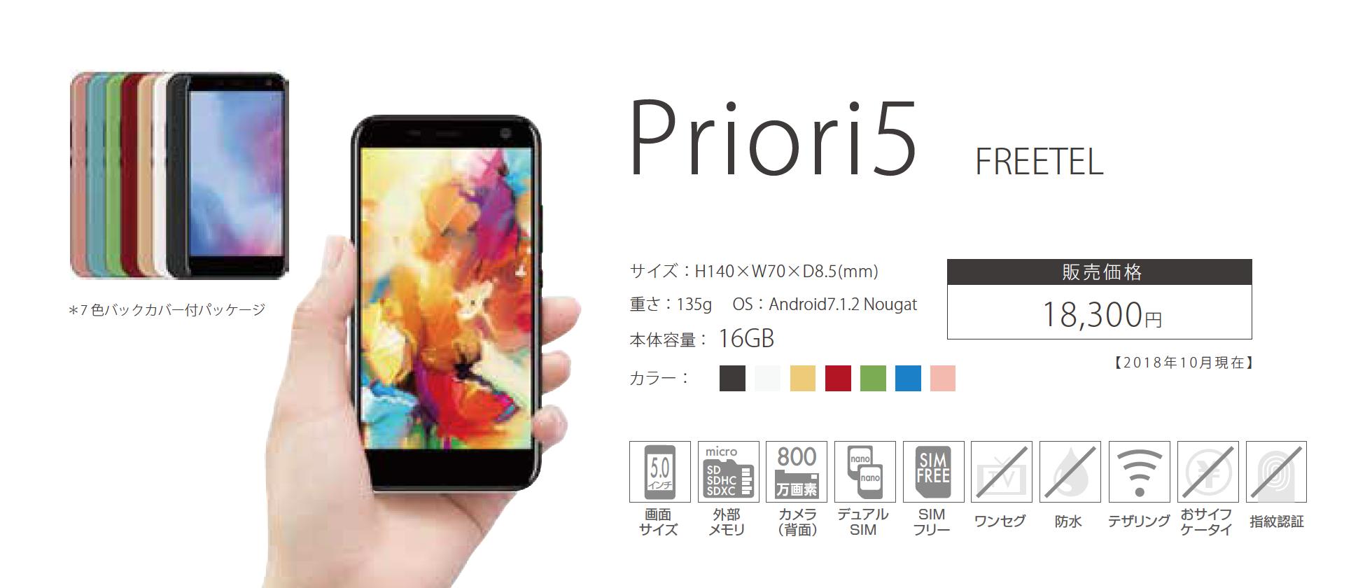 「Priori5」18300円