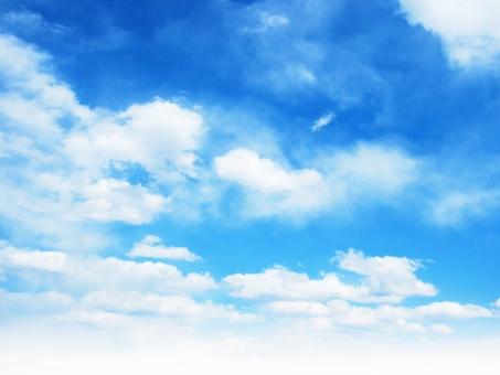 ふんわり雲の空56の写真