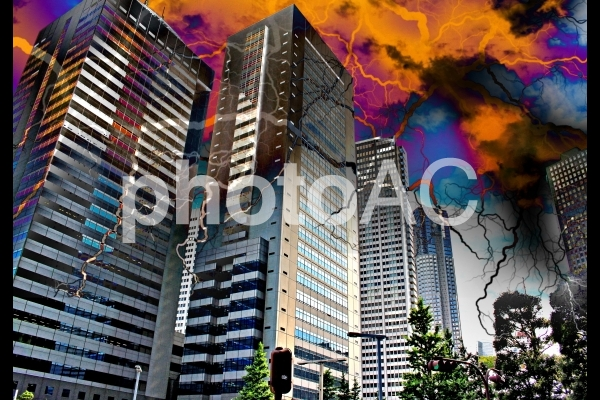 世紀末都市 高層ビルの写真
