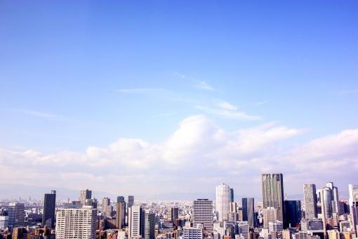屋上から見た街並み12の写真