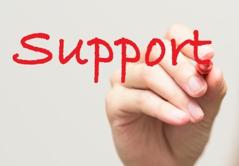 サポートの写真