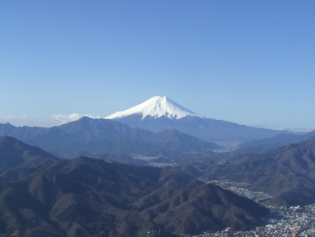 百蔵山からの富士山の写真