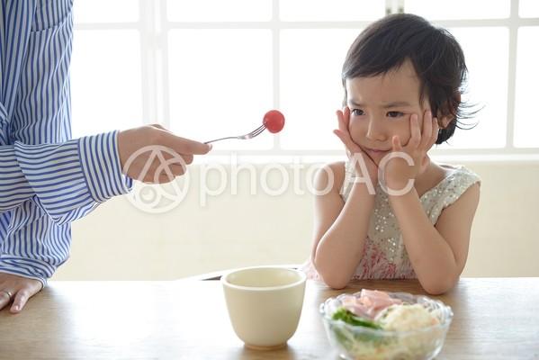 母と子 食事26の写真