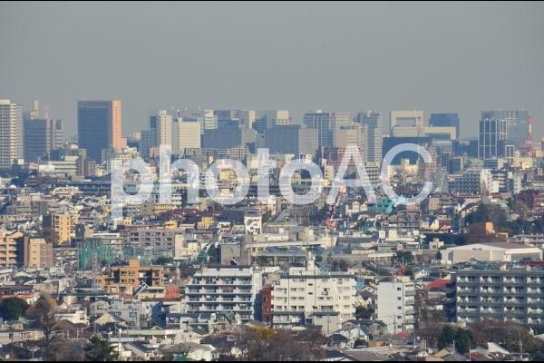 上空から撮った街並みの写真