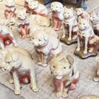 「白備前」の子犬の焼き物、愛らしい柴犬や紀州犬が登場