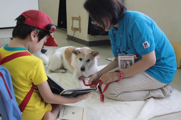 保護犬も活躍している(c)大塚敦子