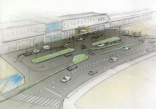 南多摩駅前の完成イメージ=稲城市提供