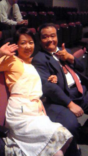 代表作となった映画「釣りバカ日誌」シリーズ。主人公ハマちゃんを演じた西田敏行さんと=浅田美代子さん提供