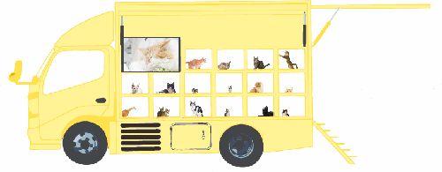 移動譲渡会場車(幸せの黄色い車)のイメージ図