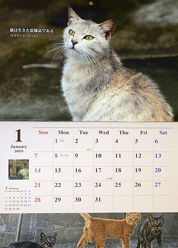 1月のねこともカレンダー