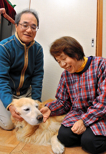 竹花さん夫妻とコルン