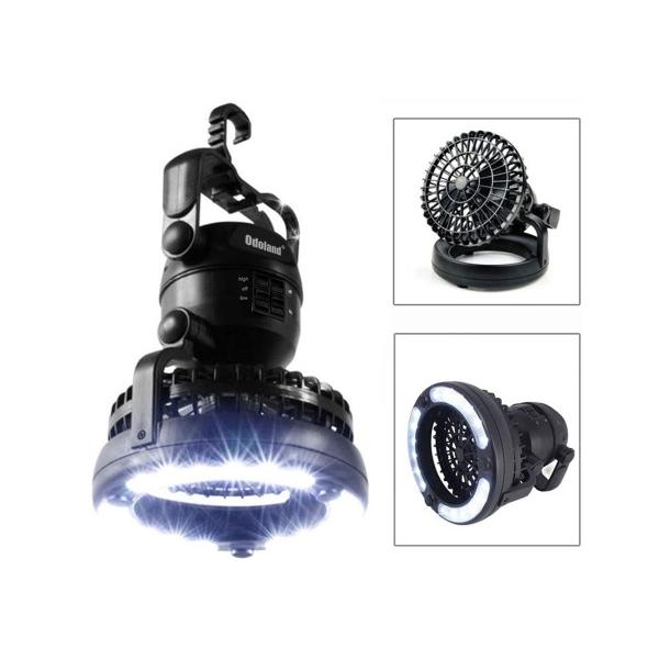 Odoland Portable LED 캠핑랜턴 차박용품 후크달린 랜턴 선풍기