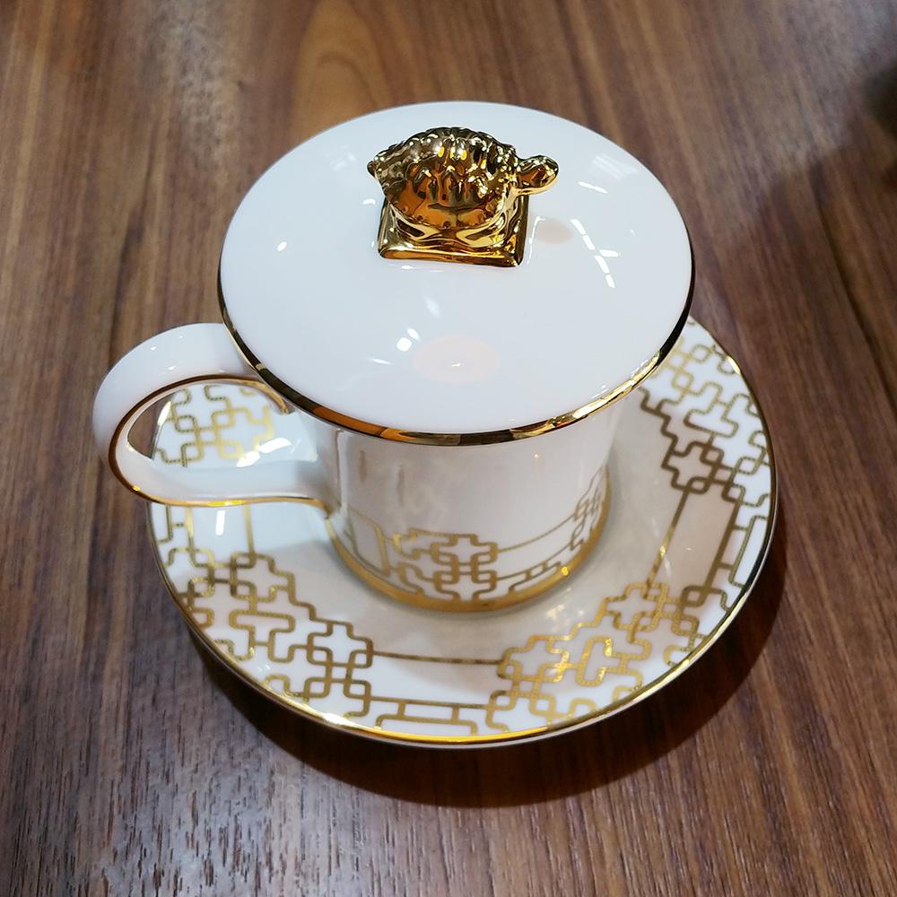 한국도자기 황실 뚜껑받침머그 세트 혼수 예단 선물