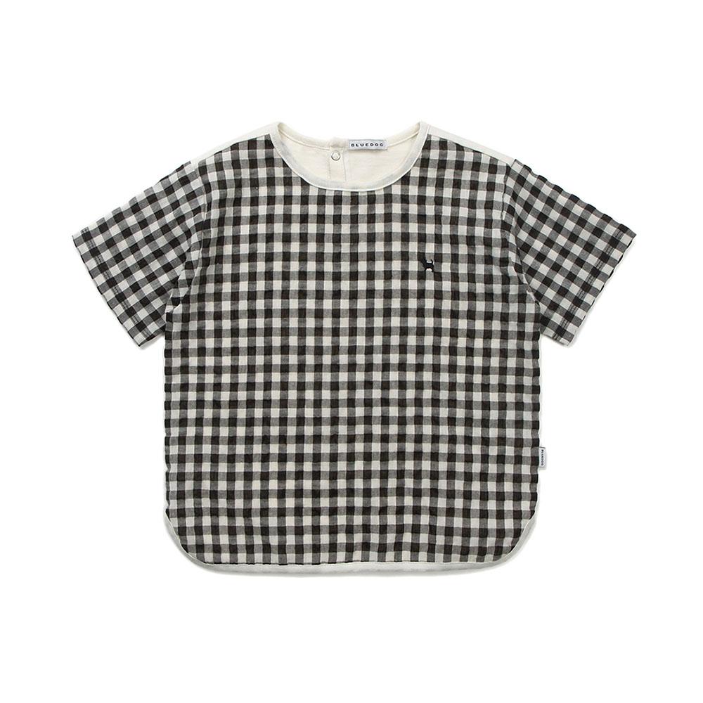 (BK)고방체크배색티셔츠 21435-332-01