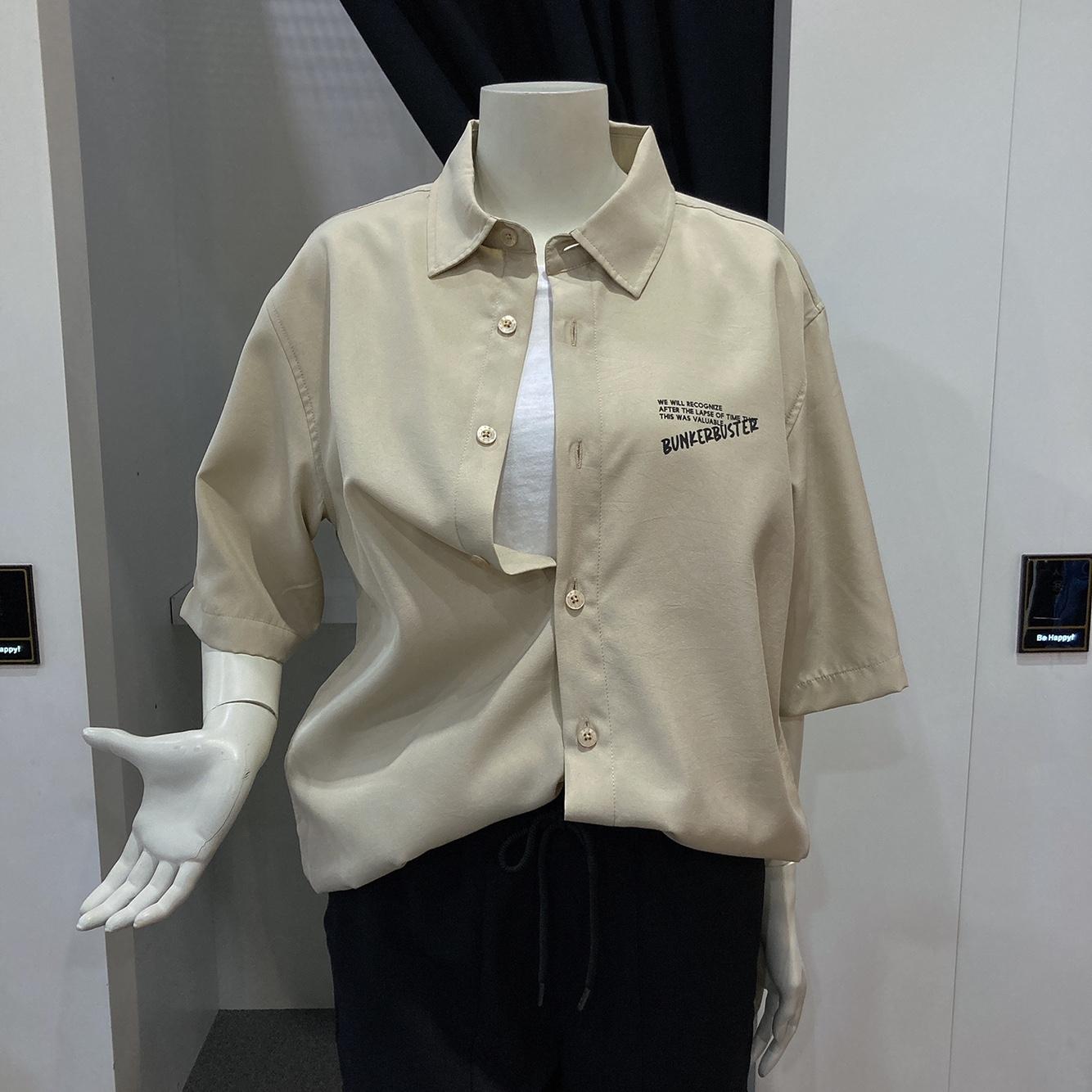 엠할리데이 공용  등판 빅워딩 반팔 셔츠(ml2-yu350)