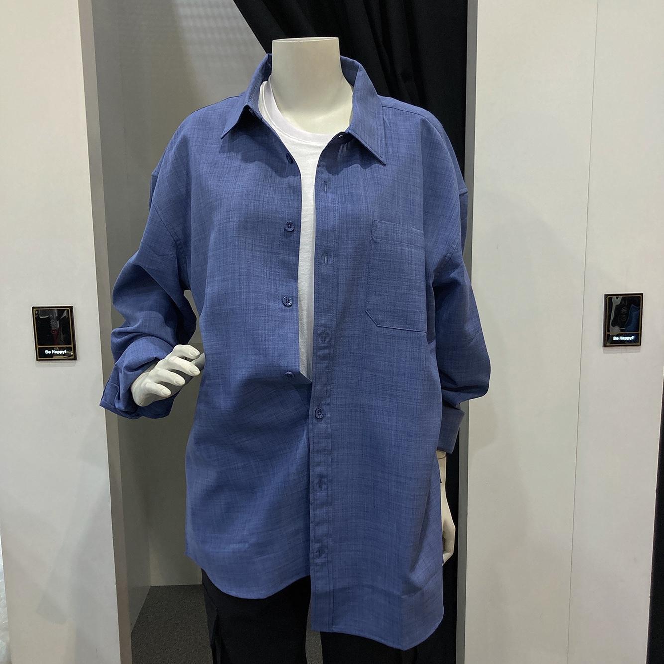남녀공용 폴리카치온 등판 드로잉 셔츠(ml2-yu331)
