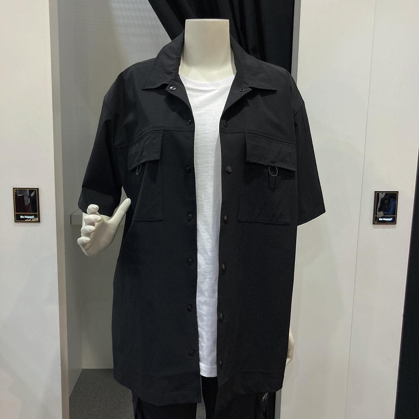 남녀공용 나일론 스판 아웃포켓 반팔셔츠(ml2-yu336)