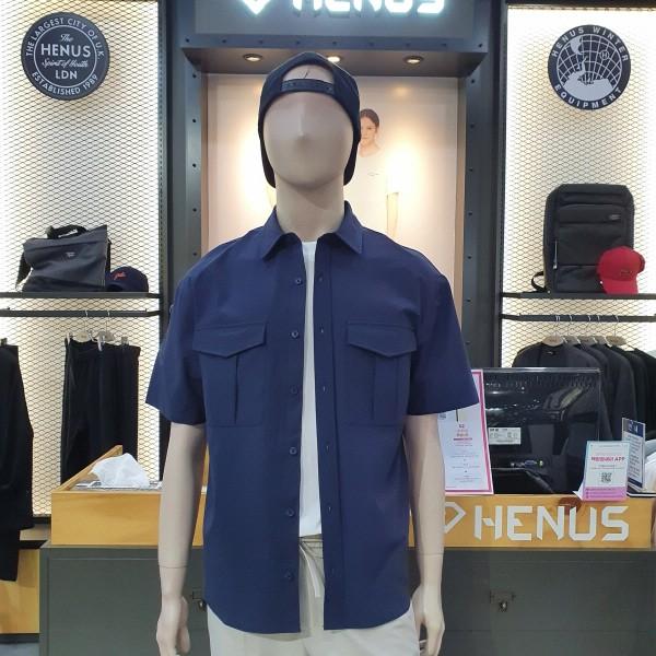 헨어스 남녀공용 포켓 셔츠 HSG401