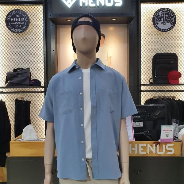 헨어스 남녀공용 레이온[소재] 포켓 셔츠 HSG402