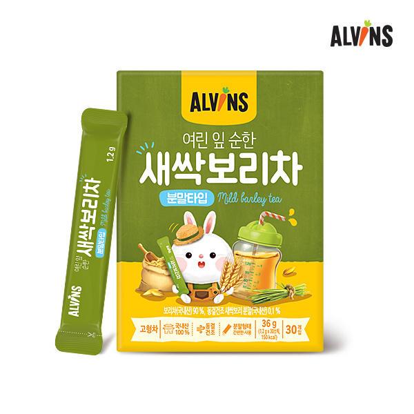 [엘빈즈] 여린잎 새싹 보리차 4박스(1박스 30포)