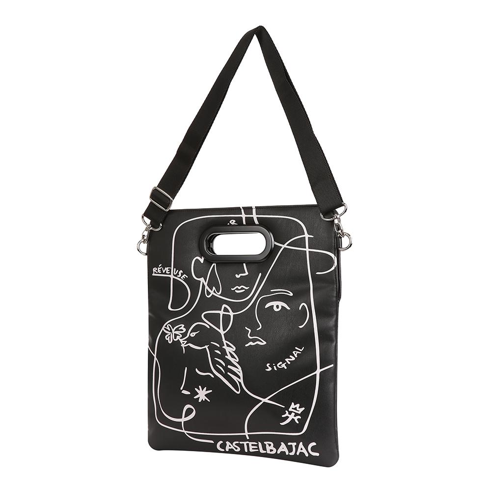 여자  아트웍 스퀘어 파우치 가방 BGAWGP701BK
