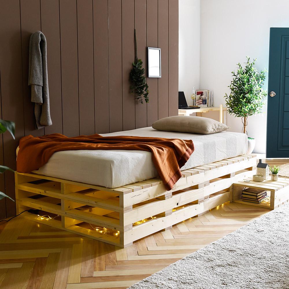 파렛트 1000×1000 침대 소파 테이블 다용도 원목 프레임