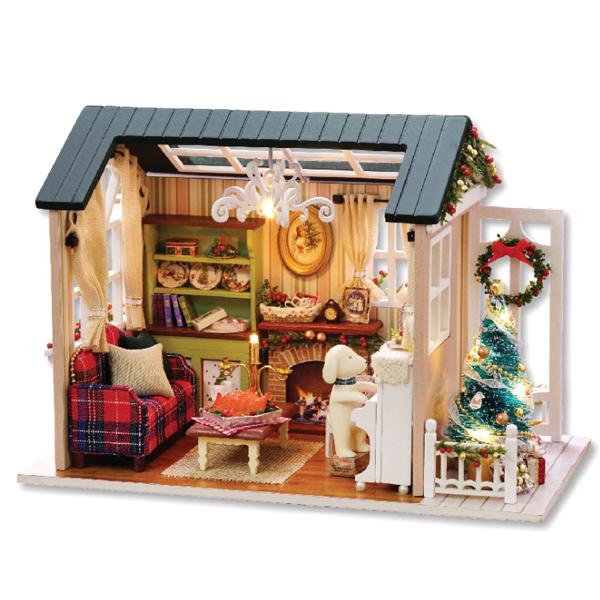 DIY 미니어처 하우스 - 레트로 크리스마스