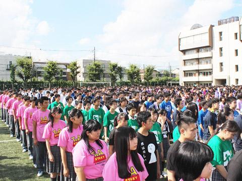 9月に実施された文化祭の一場面
