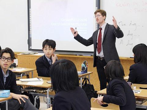 ネイティブ教員による授業の様子