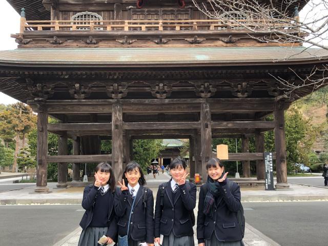 社会科フィールドワーク(鎌倉建長寺)