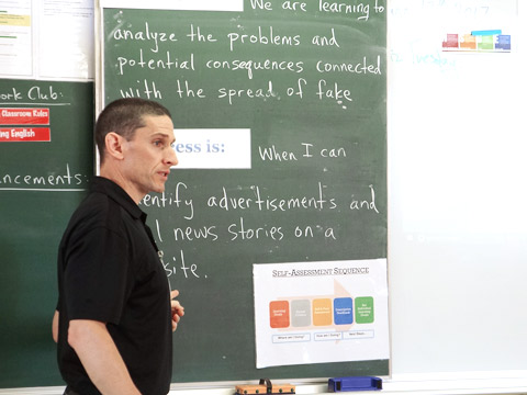 外国人教師による授業のようす