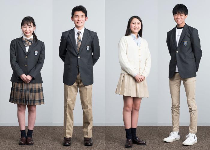 制服 標準服正装、私服との組み合わせ例