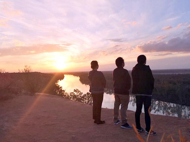 オーストラリア海外研修 オーストラリアの夕焼け