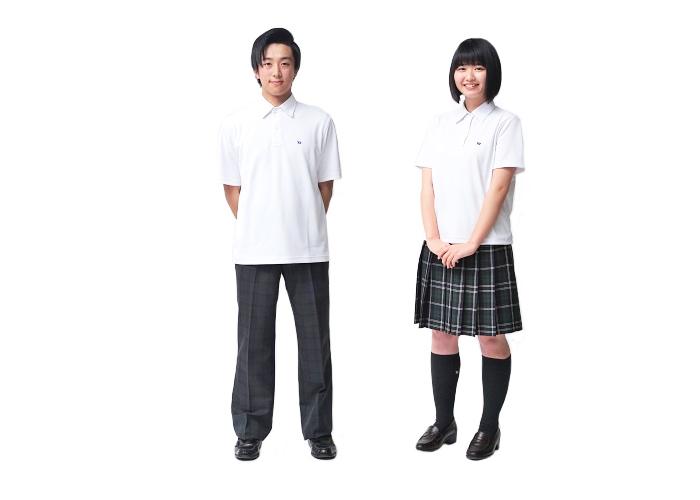 夏用ポロシャツスタイル