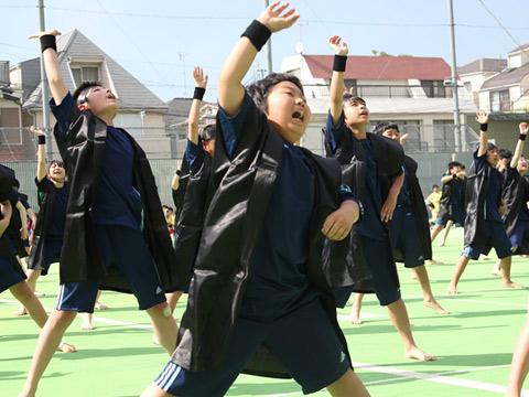 体育祭の学年演技・ソーラン節