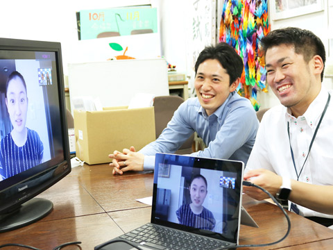 入試企画部の関口信太郎先生と杉本基一先生