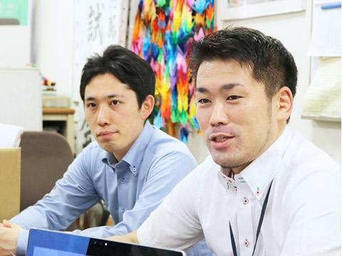 杉本先生(左)と関口先生。