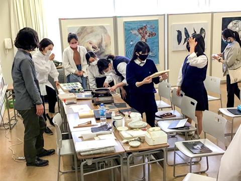 日本画の専攻領域別説明会の様子