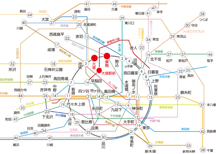 通学路線図(所要時間)