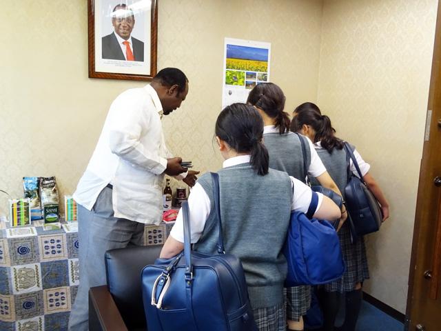 ケニア大使館への訪問