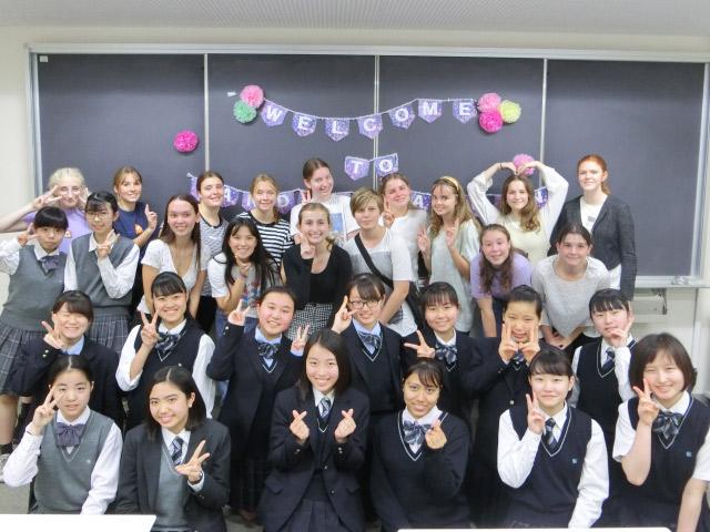 オーストラリアの姉妹校の皆さんが来日