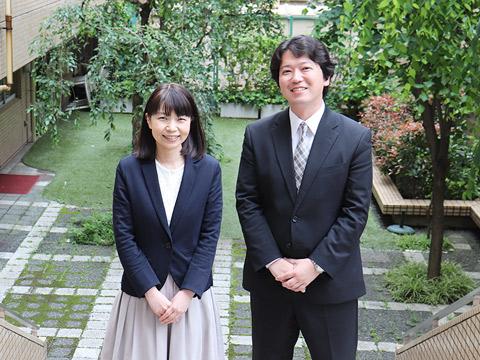 入試広報部の山形純一郎先生と有益万紀子先生