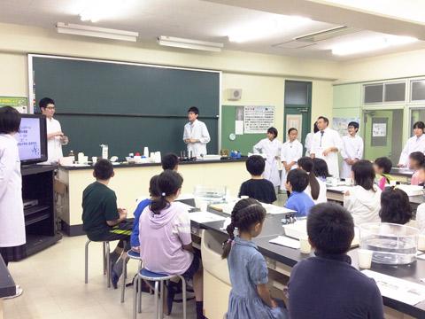 オープンスクール「理科実験教室」のようす