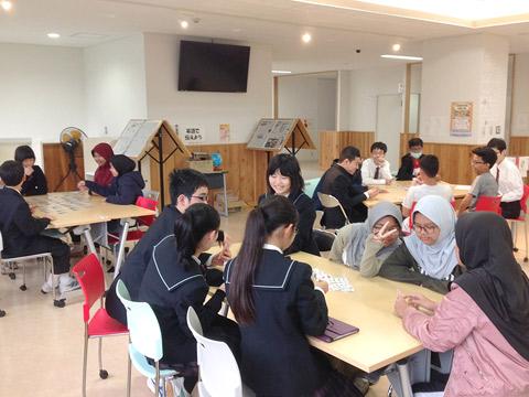 外国の高校生との交流