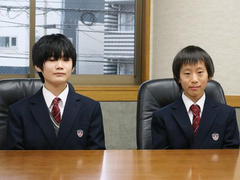 白井隆佳くん(左)、織田智秋くん(右)